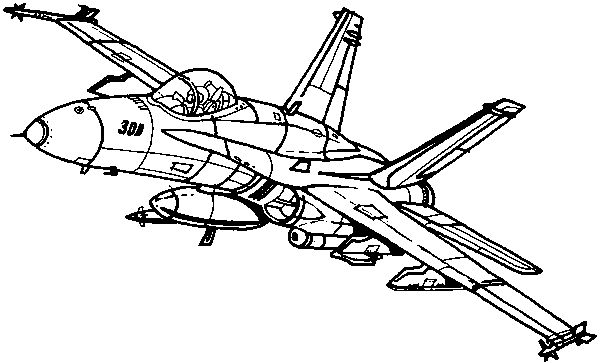 F 18 Super Hornet Drawing