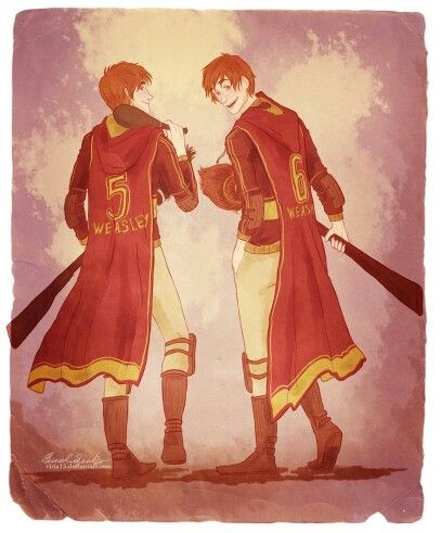 Harry Potter - Fred & George Weasley (art by Viria)