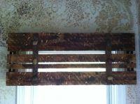 Wooden window valance | Apartment ideas | Pinterest