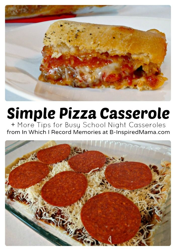 Easy #Recipe for Pizza Casserole + More Tips for #QuickFixCasseroles! Sponsored by @Country Crock = at B-Inspired Mama