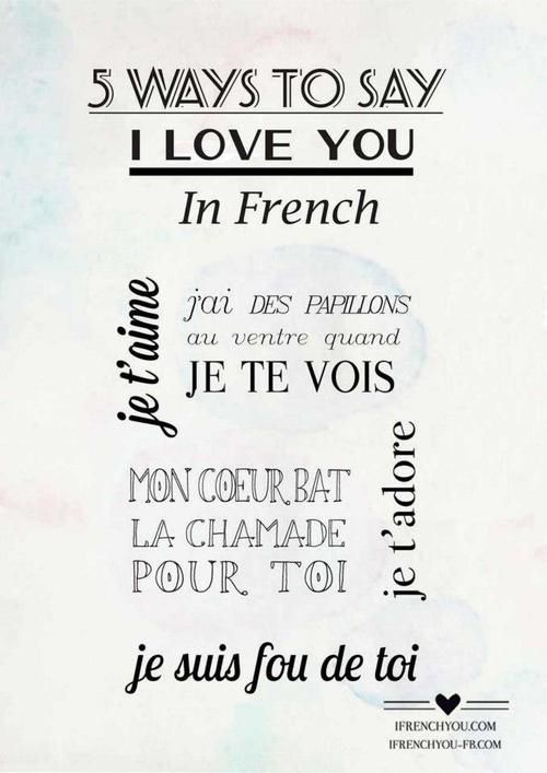You Are Love My Life French