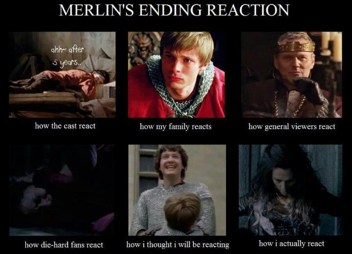 "Mine was and still is the ""die-hard Merlin Fan's Reaction"".... and Morgana's."