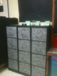 contact paper filing cabinets | School ideas | Pinterest