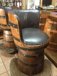 Bar stools made from wine barrels. | Barrels Of Fun ...