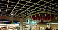 Grid ceiling over food court.   Top Girls   Pinterest