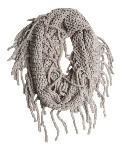 Fringe Eternity Scarf from Wet Seal  #wetseal #winter #scarves #warm