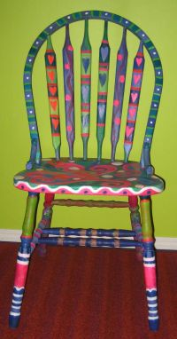Funky Painted Chairs | Furniture rehab | Pinterest