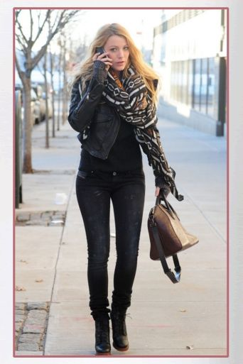 Buy it: Blake Lively's Black Leather Jacket