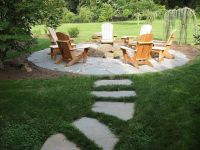 flagstone path in grass - fire pit area | Outside | Pinterest
