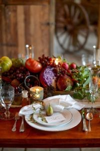 natural-thanksgiving-table-settings | Dream Home | Pinterest