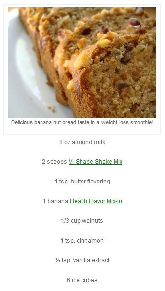 banana nut bread shake vi recipes pinterest