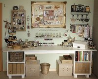 Home Decorating Pictures : Vintage Craft Room Ideas