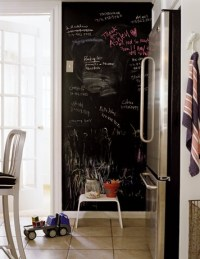 floor to ceiling chalkboard message center. around our ...