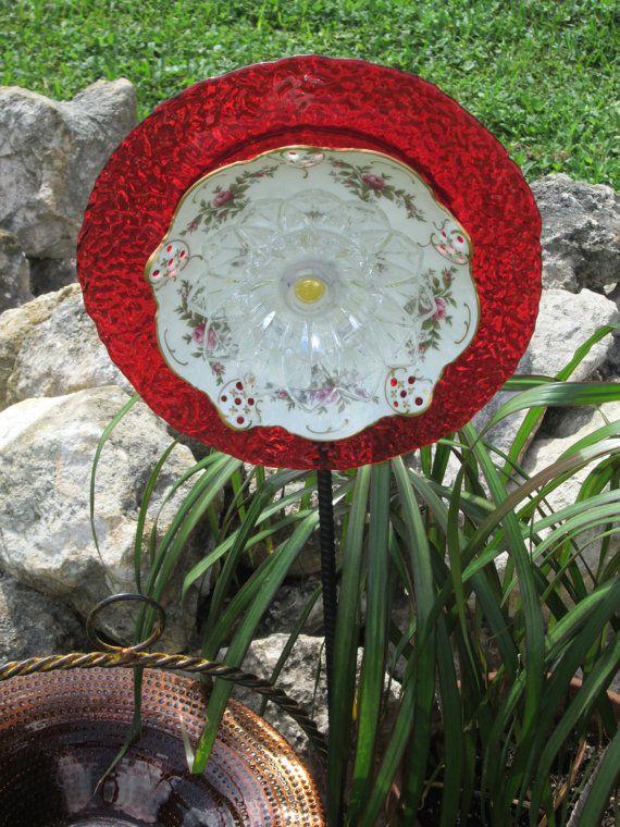 Handmade Unique Garden Decor Photograph Plate Unique G