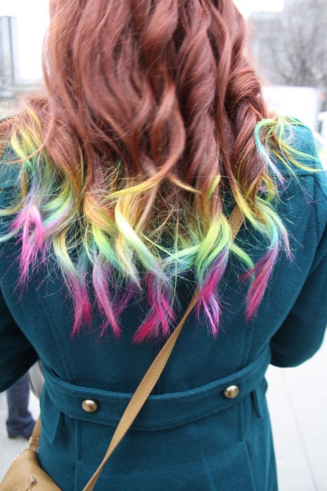 Ombre Hair Rainbow Tip