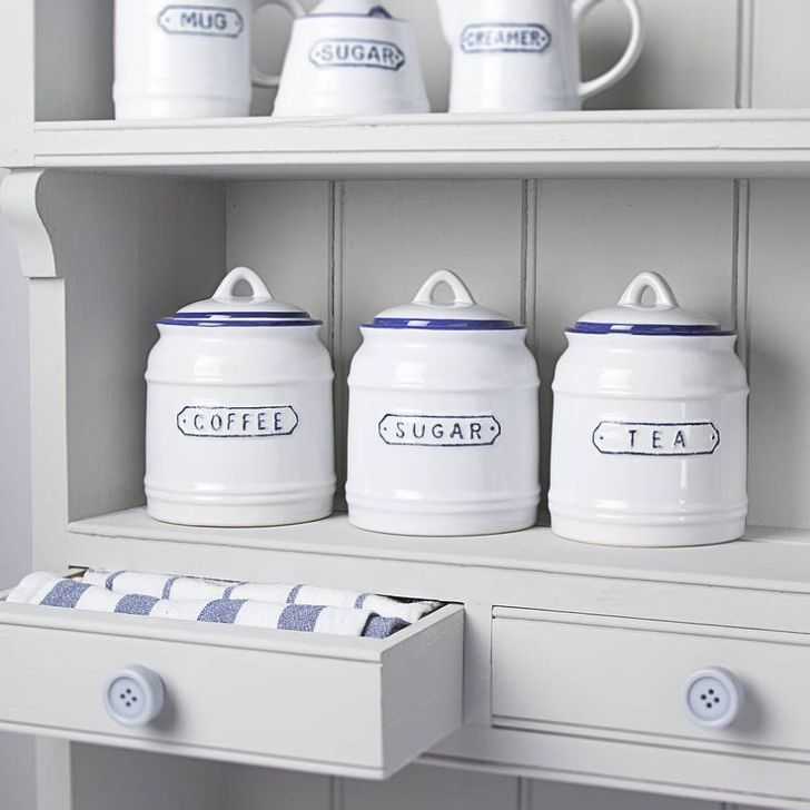 Vintage Style Nautical Kitchen Jars Contemporary Home