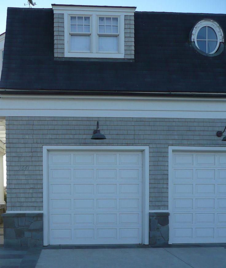 goose-neck light over garage