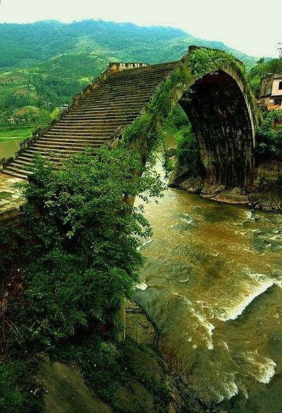 "From the Ming Dynasty built ""Rainbow Bridge"", one of the most beautiful bridge in the world."