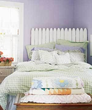 picket fence headboard--cute for a little girls room.