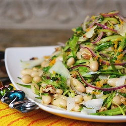 Shaved Asparagus & White Bean Salad from Clean Eating Recipes