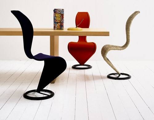 s-chair  Design Tom Dixon, 1992  Steel, wicker or straw, plastic feet  Made in Italy by Cappellini
