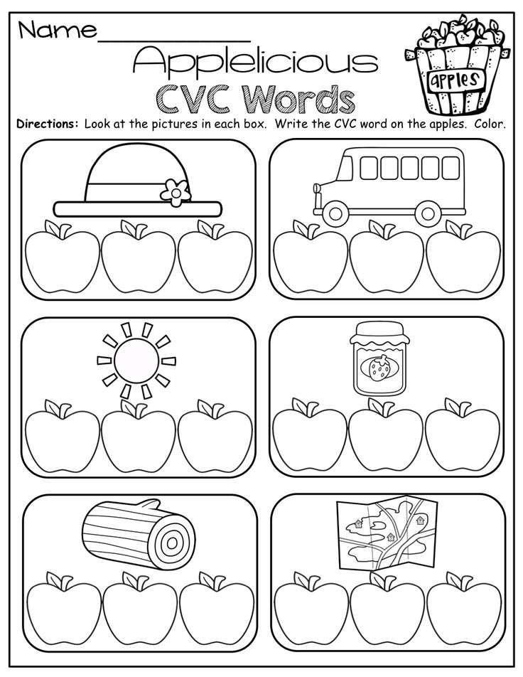 How Many Letters? Students sort words into apple baskets