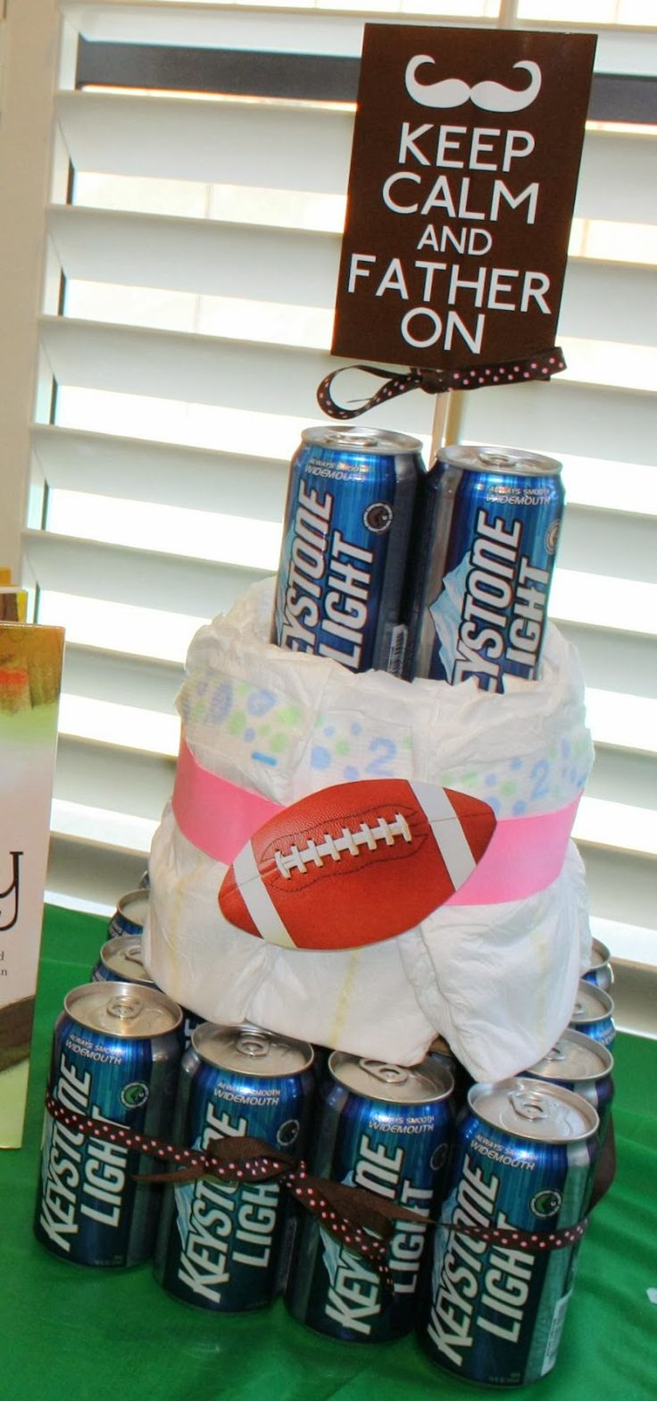 A husband soon to be father baby shower with the boys: Chuggies & Huggies Baby Shower.. while the mom has her baby shower with the girls Cute idea.. obviously, with out the beer for us.
