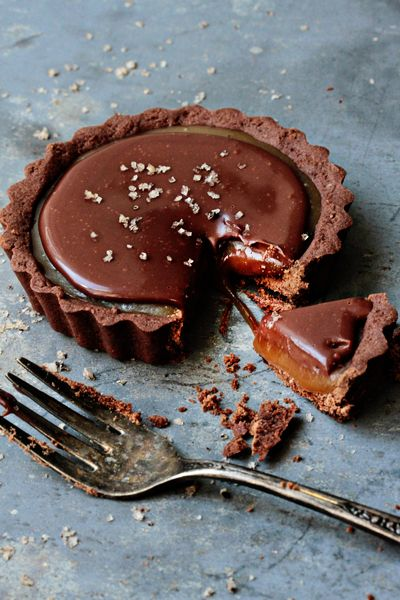 Post image for Holiday Recipe Exchange | Chocolate Caramel Tarts