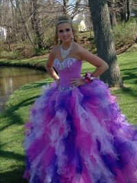Pink and Purple Poofy Prom Dress | Wedding and prom ...