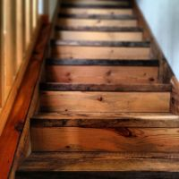Reclaimed Barn Wood Stairs | For the Home | Pinterest