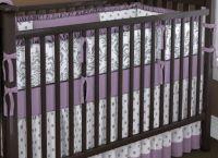Crib Bedding Set Purple Zig Zag