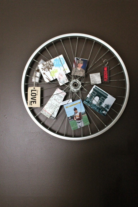 DIY bike wheel.