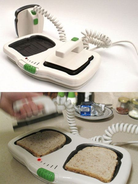 "*I PINNED THIS SIMPLY FOR THE DESCRIPTION*    The Defibrillator Toaster    My mom would be so annoyed… every morning I would run into the kitchen screaming ""WE'RE LOSING THEM!!! BEEP BEEP BEEPBEEPBEEP!""    ""DON'T YOU DIE ON ME, DAMNIT!!!  NURSE, WE NEED 12 CC'S OF CREAM CHEESE, STAT!!!""    He's bread, Jim.    Time of deliciousness: 7:15 A.M    If we don't restart his heart , he's toast!     JESUS CRUST.    JAM IT!    ""Daddy's in a butter place now, kids."""