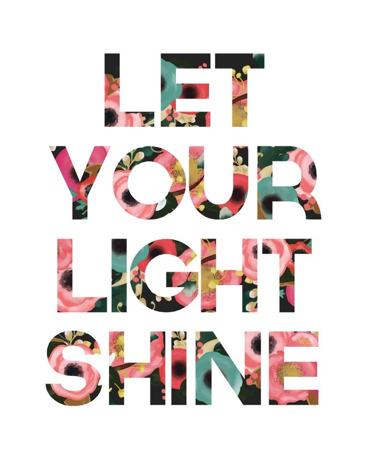 Let Your Light Shine Print by LittleLightPrints on Etsy, $9.00