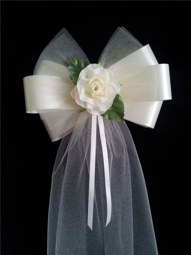 Pew bow  DIY Wedding  Pinterest