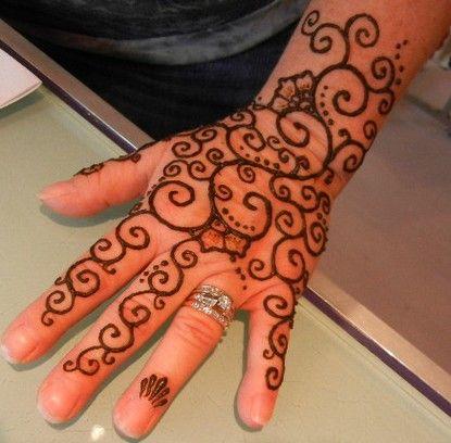 Gambar Pacar Henna Di Tangan