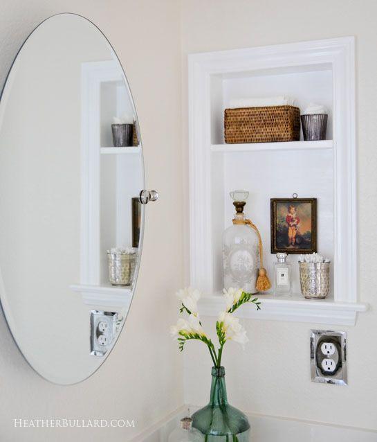 Medicine cabinet to built in shelf  Bathroom  Pinterest