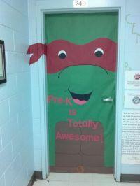 NINJA TURTLE! classroom door! | Pinterest