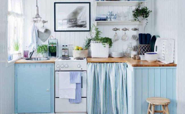 Blue Cottage Kitchens Mstjgri Décor Beach Cottage