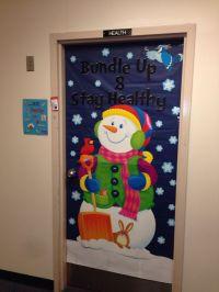 Winter door decoration | Bulletin Boards | Pinterest
