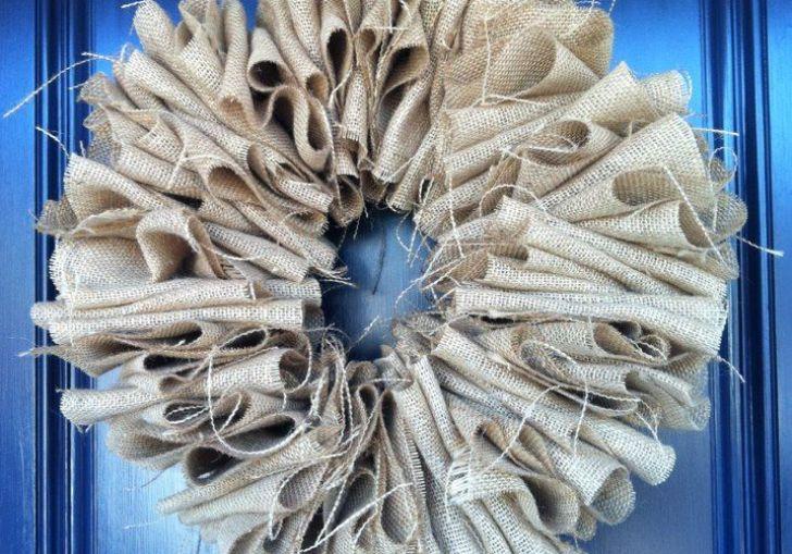 Diy Burlap Wreath Wire Hanger