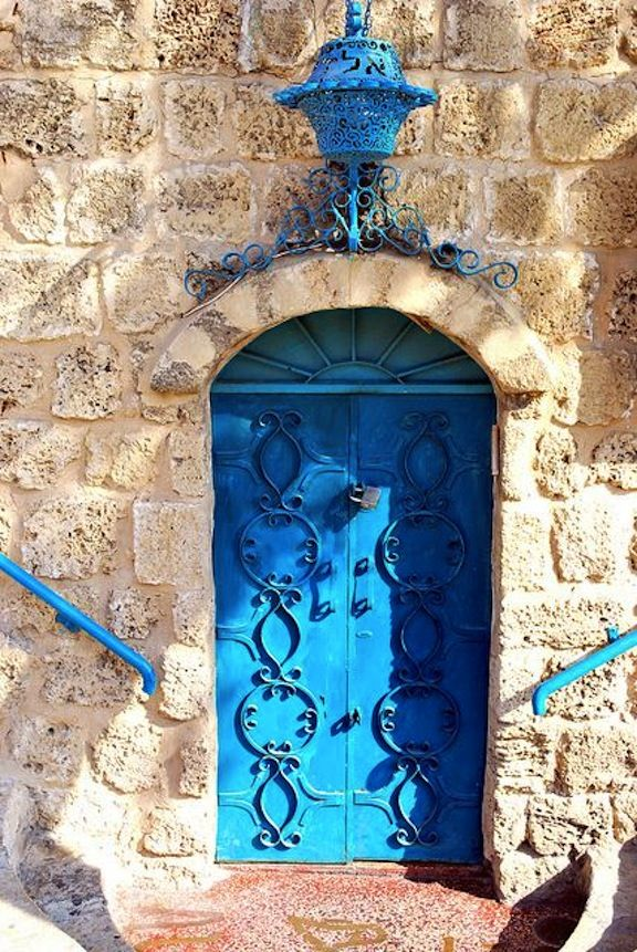 Door to Aladin Restaurant, Old Jaffa, Tel Aviv, Israel