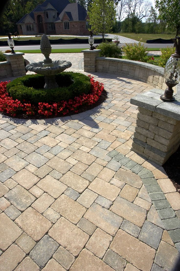 Unilock Paver Patio  Patio ideas landscaping ideas yard