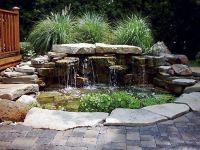 waterfall pond patio | Dream Home | Pinterest