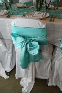 Tiffany Blue chair sash.   Tiffany Blue Bridal Shower ...