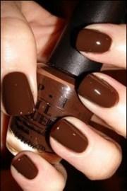 dark chocolate brown nails nails