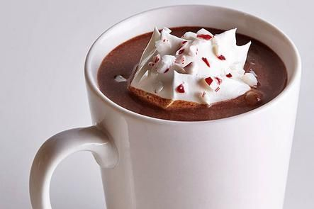 Peppermint hot chocolate is the perfect treat for a December morning.