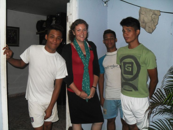Me, Louis, Elias and Andres, some other youth that I was teaching.