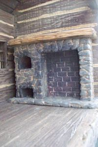 Dollhouse Miniature Colonial Walk In Fireplace Room Box ...