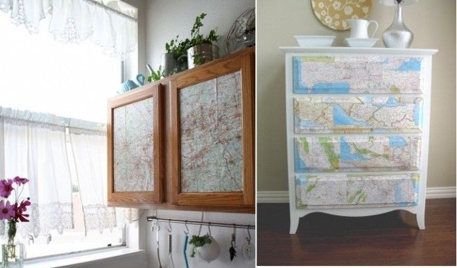 Ways To Decorate With Junk | Creative Ways To Decorate With Maps : Use Old Maps For Decorations ...